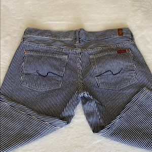 Seven Jean mid length shorts